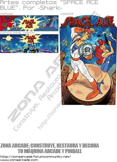 "Artes completos ""Space Ace - Blue"""
