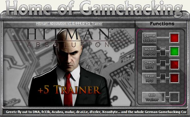 Hitman: Absolution 1.0.447.0 +5 Trainer [HoG]