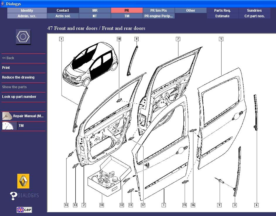 renault workshop service repair manual + wiring diagram ... renault kangoo wiring diagram #10